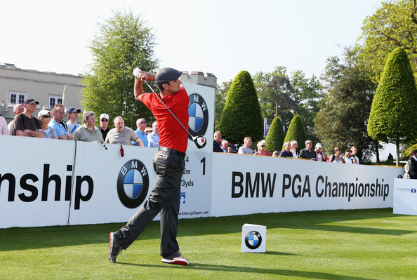 Justin Rose Justin Rose of England tees off on the 1st during the Pro-Am round prior to the BMW PGA Championship on the West Course at the Wentworth Club on May 23, 2012 in Virginia Water, England.
