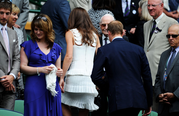Kate Middleton Catherine, Duchess of Cambridge and Prince William, Duke of Cambridge attend the fourth round match between  Andy Murray of Great Britain and  Richard Gasquet of France on Day Seven of the Wimbledon Lawn Tennis Championships at the All England Lawn Tennis and Croquet Club on June 27, 2011 in London, England.