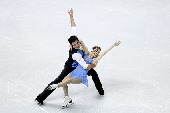 Americans Mary Beth Marley and Rockne Brubaker skate to a first place finish in the Short Program at US Nationals