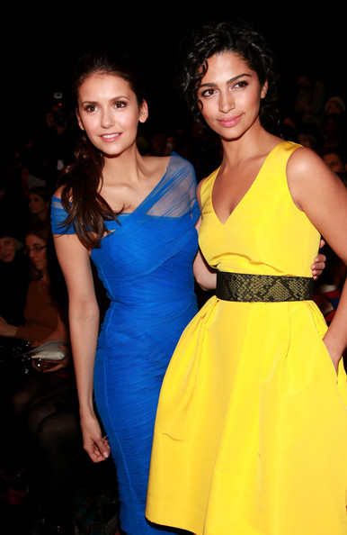 Nina Dobrev - Monique Lhuillier - Front Row - Fall 2012 Mercedes-Benz Fashion Week
