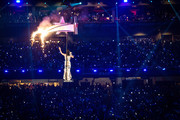 Recording artist Katy Perry performs onstage during the Pepsi Super Bowl XLIX Halftime Show at University of Phoenix Stadium on February 1, 2015 in Glendale, Arizona.