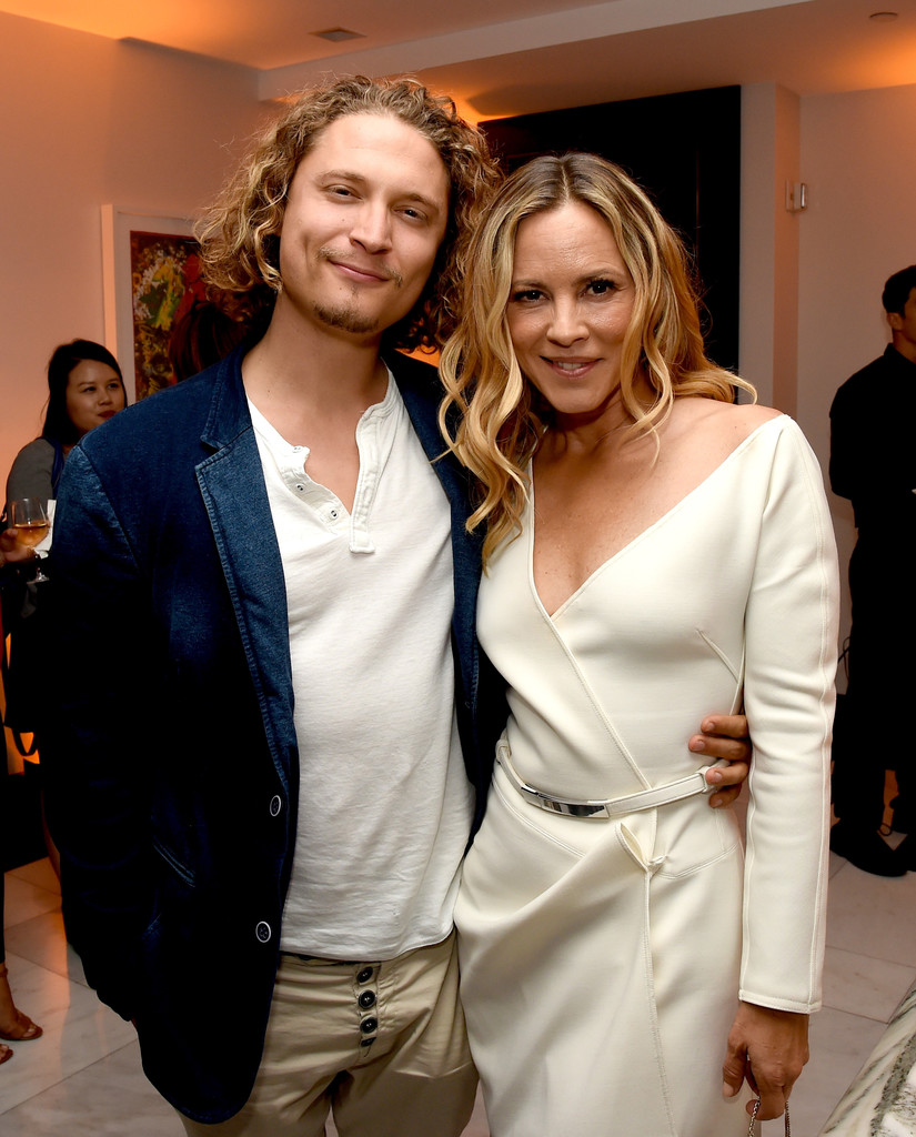 Maria Bello and Elijah AllanBlitz Photos Photos  Premiere of Amazons Goliath  AfterParty