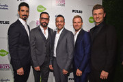"Back Street Boys members Kevin Richardson, A.J. McLean, Howie Dorough, Brian Littrell and Nick Carter attend the premiere of Gravitas Ventures' ""Backstreet Boys: Show 'Em What You're Made Of""   at  on January 29, 2015 in Hollywood, California."