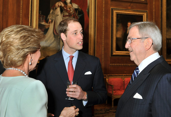 Prince William, Duke of Cambridge speaks to King Constantine of Greece during a reception in the Waterloo Chamber, before the Lunch For Sovereign Monarchs at Windsor Castle, on May 18, 2012 in Windsor, England.