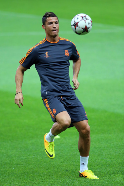 Cristiano Ronaldo in Real Madrid CF Training Session Zimbio