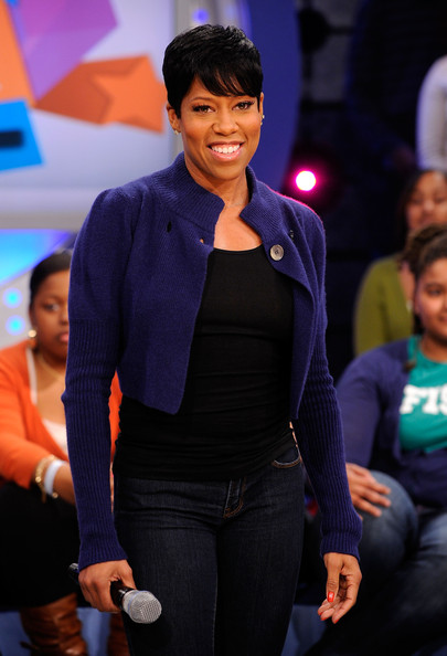 Regina King Actress Regina King visits BET's ''106 & Park'' at BET Studios on March 10, 2010 in New York City.