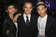 Recording artist Zendaya, founder and CEO of Republic Records Monte Lipman and recording artist Roshon Fegan attend the Republic Records / Big Machine Label Group Grammy Celebration on February 8, 2015 in Hollywood, California.