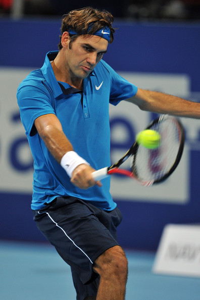 Roger Federer - Swiss Indoors Basel - Day One