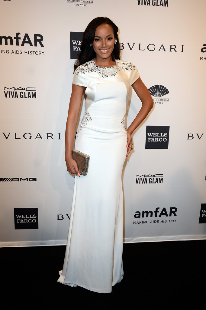 Kelly Rowland Looked Sweet In A Printed Juan Carlos Obando Dress Love Her Hair And Makeup Here