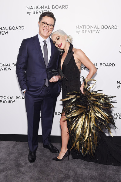 Stephen Colbert and Lady Gaga at the  National Board of Review Annual Awards Gala