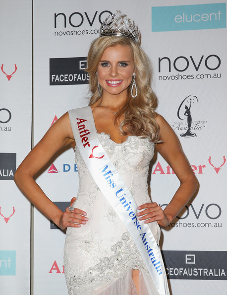 Tegan Martin Tegan Martin of Newcastle, New South Wales poses after being crowned Miss Universe Australia 2014 on June 6, 2014 in Melbourne, Australia.