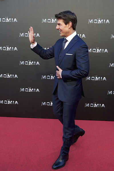 Tom Cruise Attends 'The Mummy' Madrid Premiere