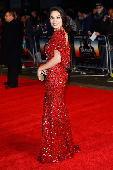 Actress Rosario Dawson attends the UK Film Premiere of 'Trance' at Odeon West End on March 19, 2013 in London, England.