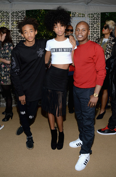 Willow Smith (Exclusive Coverage) (L-R) Actor Jaden Smith, actress Willow Smith and Tyran 'Tata' Smith attend the Roc Nation Pre-GRAMMY Brunch Presented by MAC Viva Glam at Private Residence on January 25, 2014 in Beverly Hills, California.