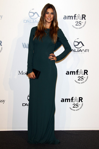 Melissa Satta attends amfAR MILANO 2011 at La Permanente on September 23, 2011 in Milan, Italy.