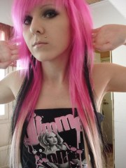 trend mens hairstyle pink emo