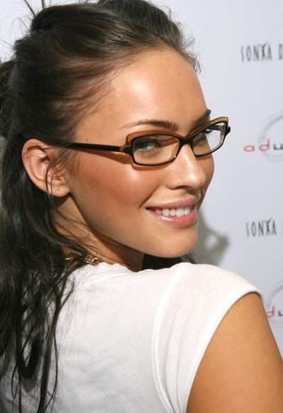 Megan Fox wearing Glasses