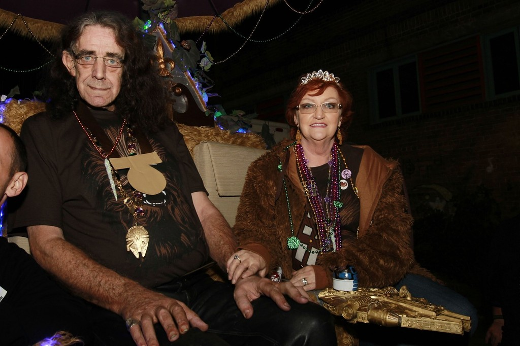 Angie Mayhew in Peter Mayhew and Wife in New Orleans  Zimbio