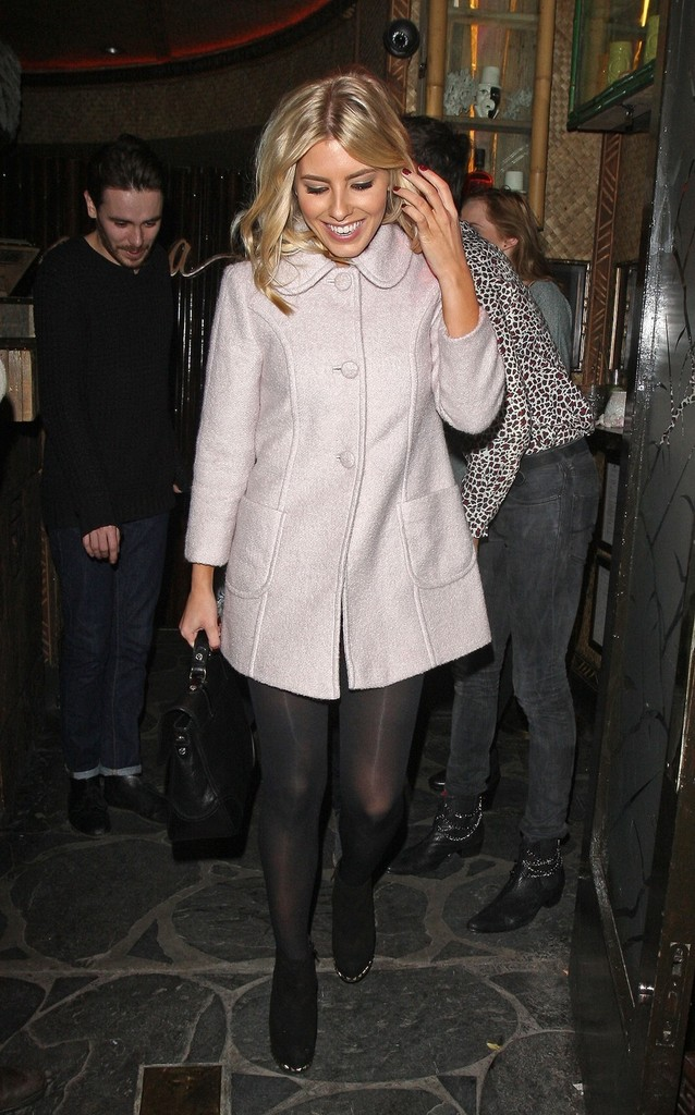 Mollie+King in The Saturdays singer Mollie King seen leaving from the Coconut Christmas party at Mahiki nightclub in Mayfair, London