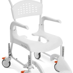 Shower Chairs With Wheels Green Chair 2005 Trailer Etac Clean 24 In Commode Wheelchair