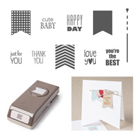 Banner Banter Wood-mount Bundle by Stampin' Up!