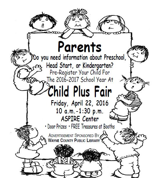 Child Plus Fair to be held for incoming Pre-K students