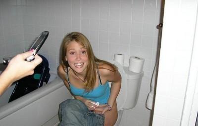 girls squatting to poop