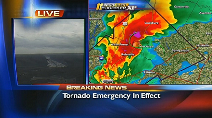 Tornado emergency for Raleigh