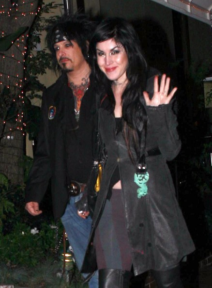 Kat Von D Tattoo artist Kat Von D and musician Nikki Sixx out for dinner in