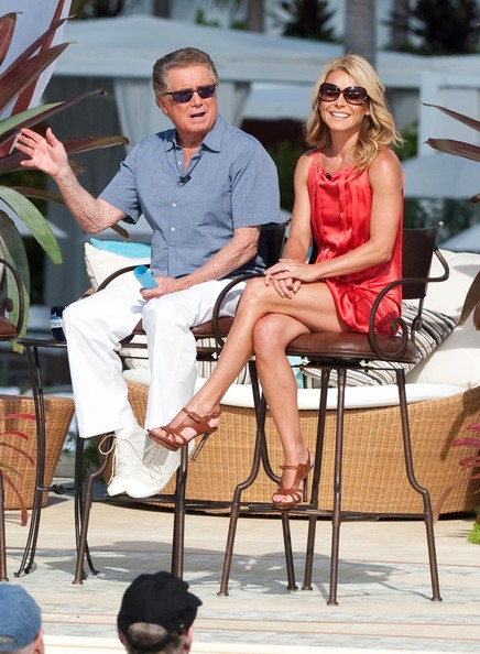 Regis Philbin and Kelly Ripa took the show on the road to film 'Live With Regis & Kelly' in Miami... Non-Exclusive Pix by Flynet 2009 818-307-4813  Nicolas 323-974-6007  Jay 310-466-8617  Scott