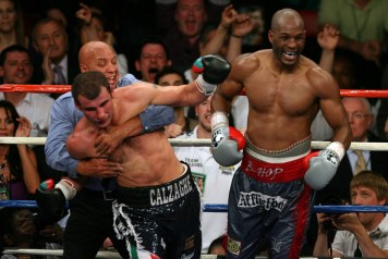 Joe Cortez and Joe Calzaghe - World Light Heavyweight Fight: Bernard Hopkins v Joe Calzaghe