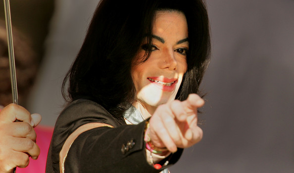 Michael Jackson Singer Michael Jackson gestures to his supporters at the Santa Barbara County courthouse during the sixth week of his trial April 8, 2005 in Santa Maria, California. Jackson is charged in a 10-count indictment with molesting a boy, plying him with liquor and conspiring to commit child abduction, false imprisonment and extortion.