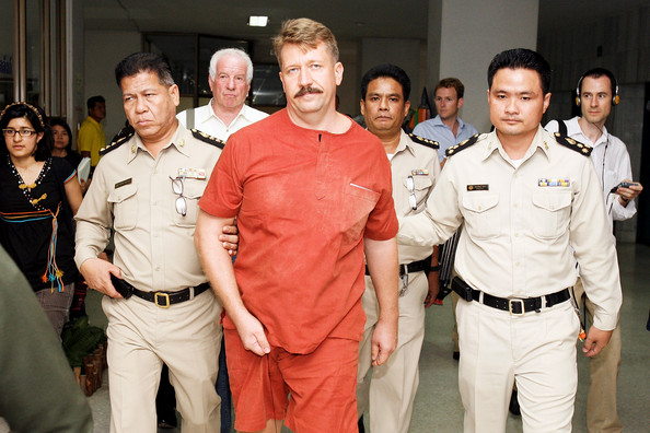 Arms Dealer Viktor Bout arrive at Bangkok Supreme Court on July 28, 2008, in Bangkok, Thailand. A Thai court delayed reputed Russian arms smuggler Viktor Bout's extradition hearing to the U.S. for a second time after his new defense attorney failed to show up for the high-profile case Monday.