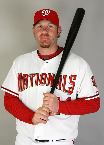Adam Dunn Adam Dunn #44 of the Washington Nationals poses during photo day at Roger Dean Stadium on February 21, 2009 in Viera, Florida.  (Photo by Doug Benc/Getty Images) *** Local Caption *** Adam Dunn