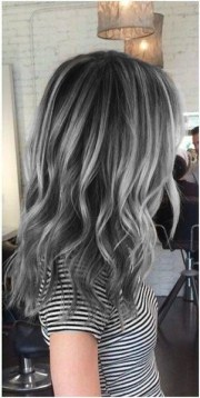charcoal base with silver highlights