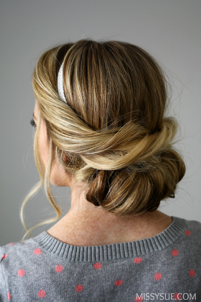 Wrapped Headband Updo  Easy Hairstyles You Can Do In 5