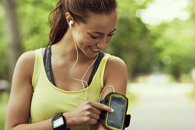 Bilderesultat for listening to music workout