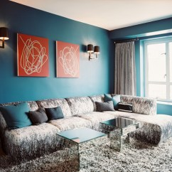 Gray Blue Living Room Turquoise And Brown Curtains Photos 288 Of 333