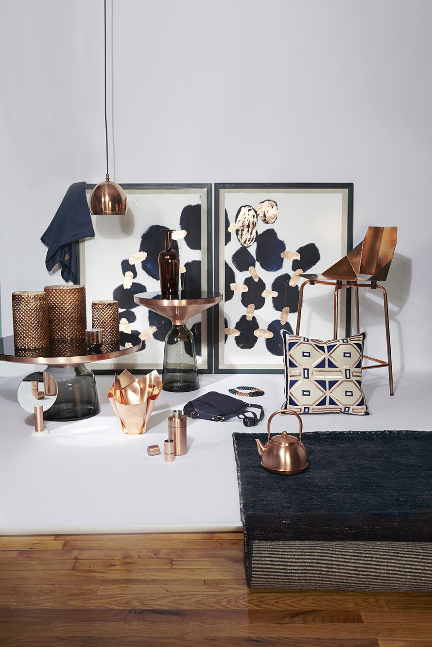 Copper And Navy Photos Design Ideas Remodel and Decor  Lonny