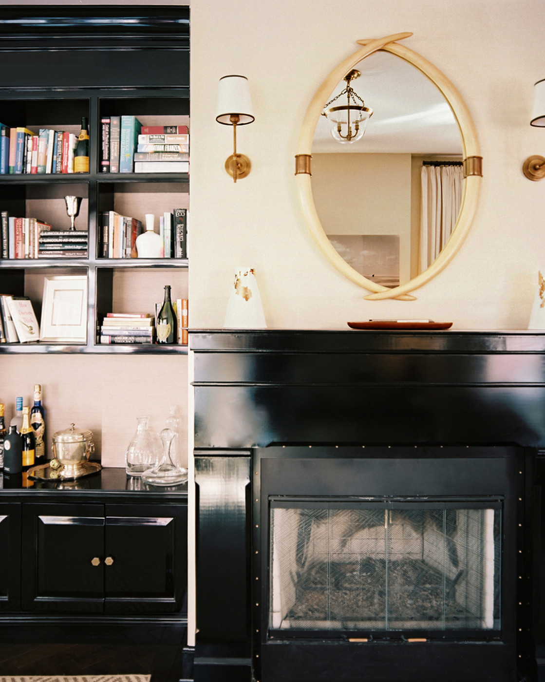 Bookcase Next To Fireplace Photos Design Ideas Remodel