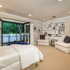 All White Living Room Ideas Oversized Chairs For The Guest Bedroom - Mila Kunis Los Angeles Mansion Lonny