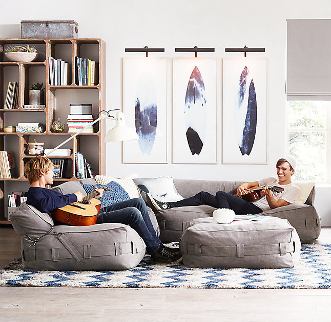 Cargo Lounge Seating  25 Things We Love from RH TEEN  Lonny