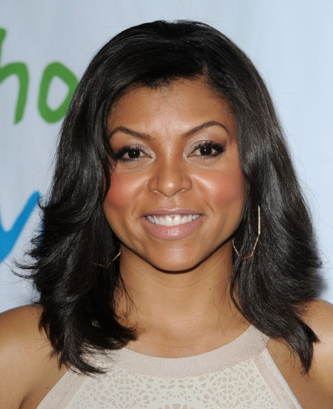 taraji p. henson shoulder length hairstyles - taraji p
