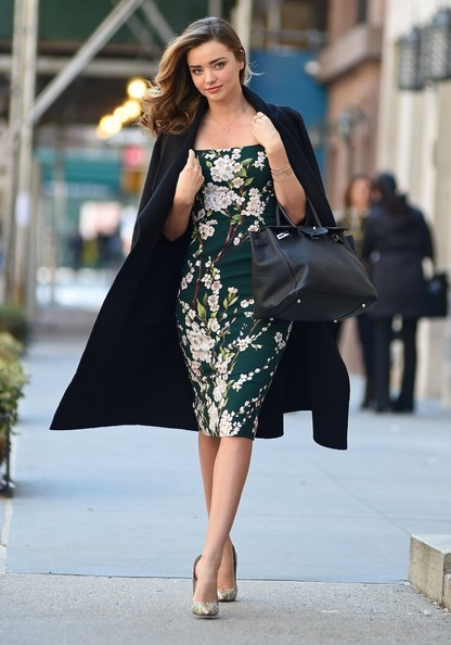 Miranda Kerr in Dolce & Gabbana Out in New York City