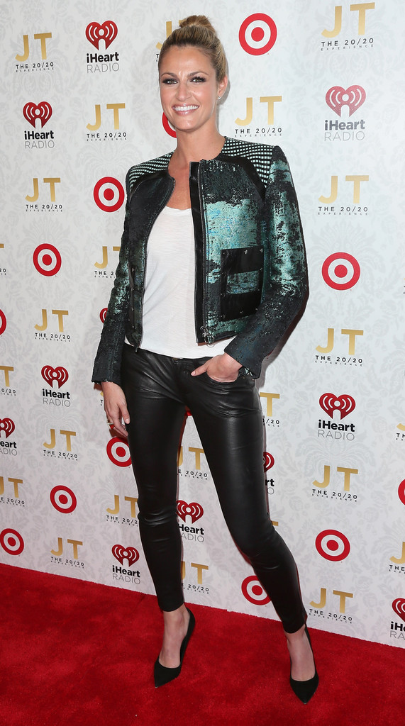 Erin Andrews Leather Pants  Leather Pants Lookbook  StyleBistro