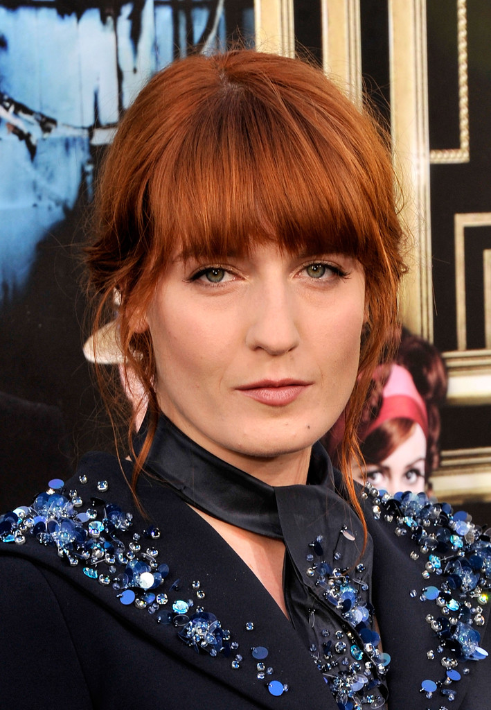Florence Welch Messy Updo Florence Welch Hair Looks