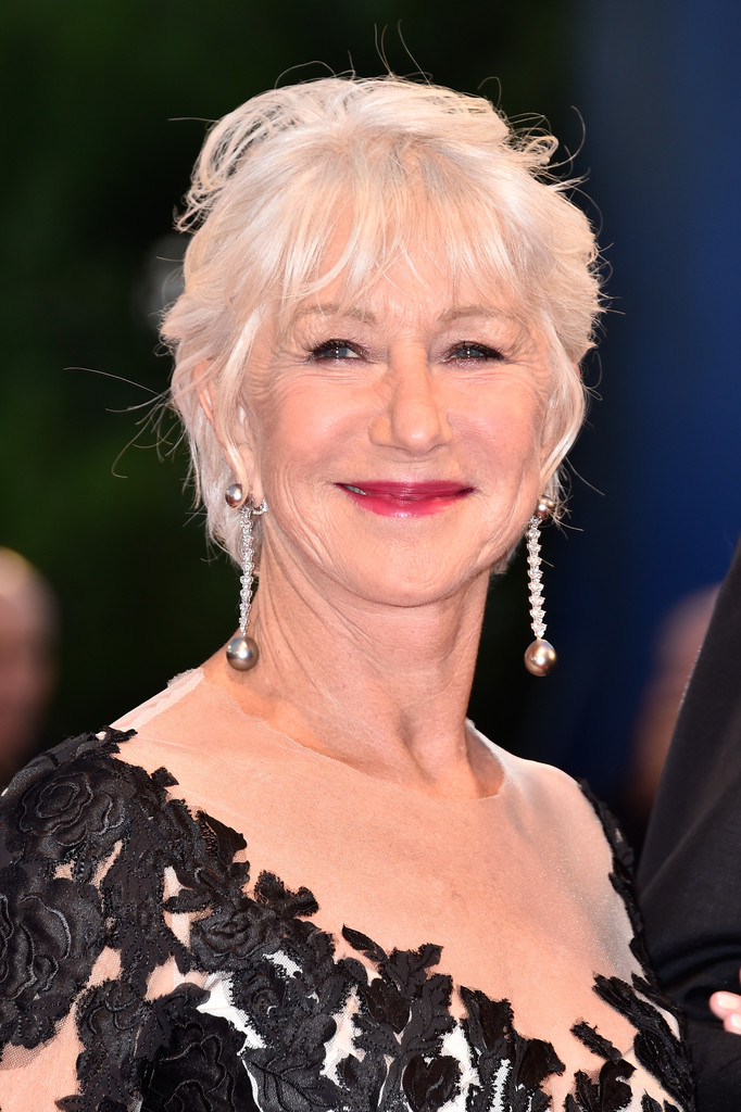 Helen Mirren Messy Cut  Helen Mirren Hair Looks  StyleBistro
