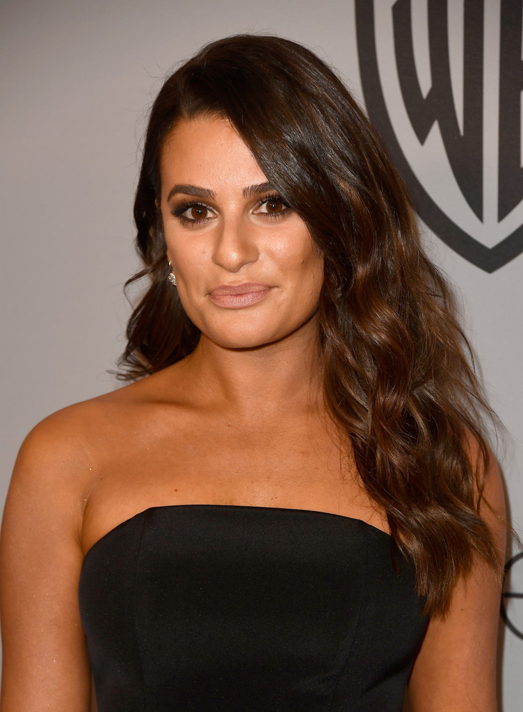 Lea Michele Long Wavy Cut  Lea Michele Looks  StyleBistro