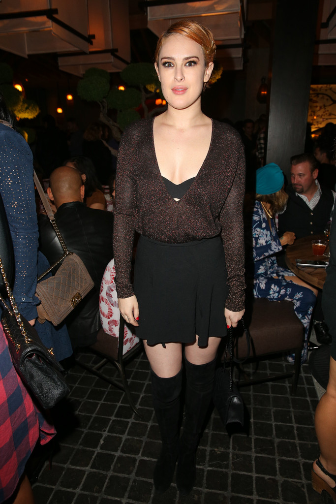 Rumer Willis Over the Knee Boots  Over the Knee Boots