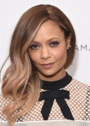 thandie newton ombre hair - long